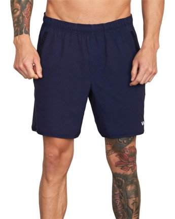 "4 YOGGER LINED ATHLETIC SHORTS 17"" Blue V2113RYL RVCA"