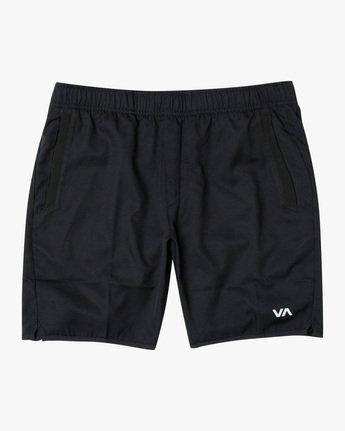 """0 YOGGER IV 17"""" WORKOUT SHORT Black V2133RYG RVCA"""