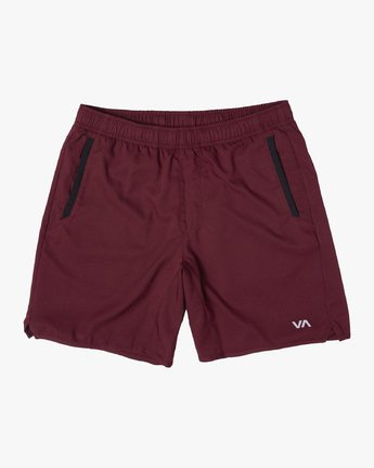 "0 YOGGER IV 17"" WORKOUT SHORT Red V2133RYG RVCA"