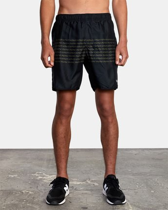 "7 YOGGER IV ATHLETIC SHORTS 17"" Black V2133RYG RVCA"