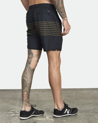 "5 YOGGER IV ATHLETIC SHORTS 17"" Black V2133RYG RVCA"