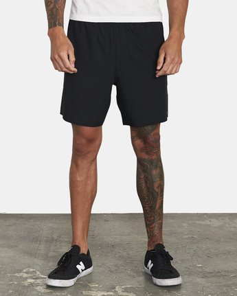 "1 YOGGER IV ATHLETIC SHORTS 17"" Black V2133RYG RVCA"