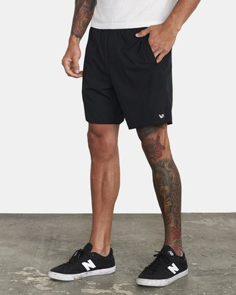 "3 YOGGER IV ATHLETIC SHORTS 17"" Black V2133RYG RVCA"