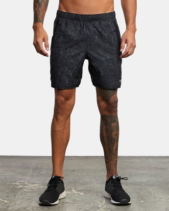 "1 YOGGER IV 17"" WORKOUT SHORT Black V2133RYG RVCA"