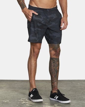 "6 YOGGER IV 17"" WORKOUT SHORT Brown V2133RYG RVCA"