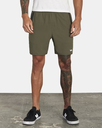 "1 YOGGER IV 17"" WORKOUT SHORT Green V2133RYG RVCA"