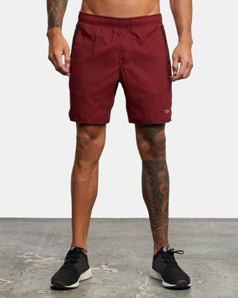 "1 YOGGER IV 17"" WORKOUT SHORT Red V2133RYG RVCA"
