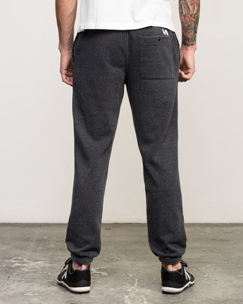 3 VA Guard Fleece Sweatpant Black V301QRGU RVCA