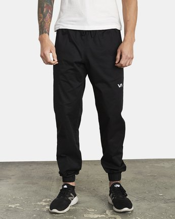 1 SPECTRUM CUFFED WORKOUT PANTS Black V3031RSC RVCA
