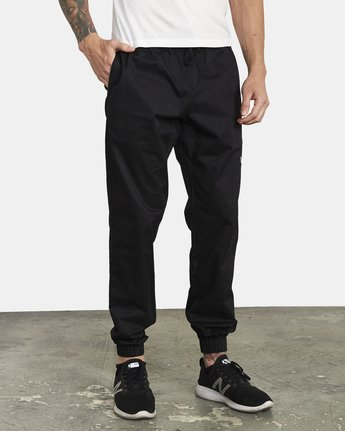 5 SPECTRUM CUFFED WORKOUT PANTS Black V3031RSC RVCA