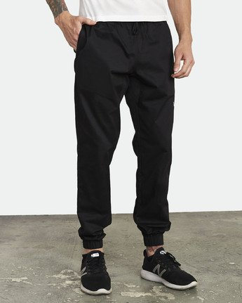 6 SPECTRUM CUFFED WORKOUT PANTS Black V3031RSC RVCA