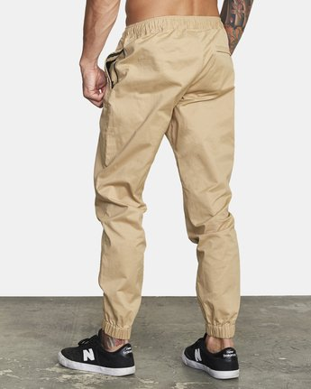 2 SPECTRUM CUFFED WOVEN PANT Brown V3031RSC RVCA
