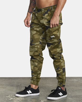 4 SPECTRUM CUFFED WORKOUT PANTS Grey V3031RSC RVCA