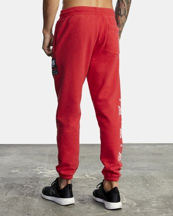 5 EVERLAST SPORT SWEATPANT Red V3071RES RVCA