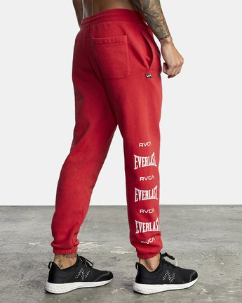 6 EVERLAST SPORT SWEATPANT Red V3071RES RVCA