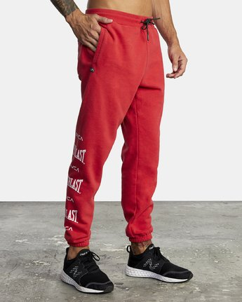 7 EVERLAST SPORT SWEATPANT Red V3071RES RVCA