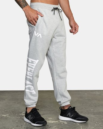 5 EVERLAST RELAXED SWEATPANTS Grey V3083RES RVCA