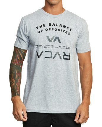 5 BALANCE ARC SHORT SLEEVE TEE Red V4013RBA RVCA