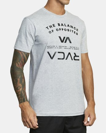 4 BALANCE ARC SHORT SLEEVE TEE Red V4013RBA RVCA