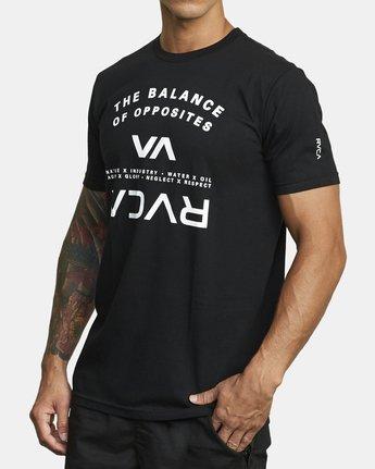 2 BALANCE ARC SHORT SLEEVE TEE Black V4013RBA RVCA