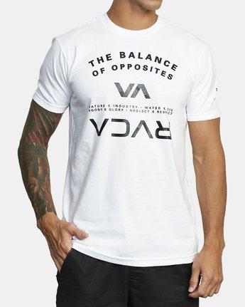 1 BALANCE ARC SHORT SLEEVE TEE White V4013RBA RVCA