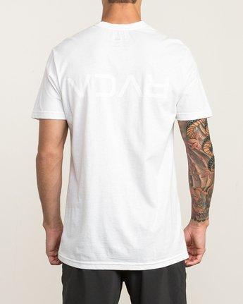 4 Flipped T-Shirt White V402SRFL RVCA
