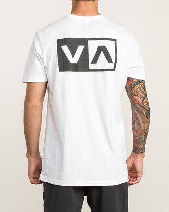 4 Stacked T-Shirt White V402SRST RVCA