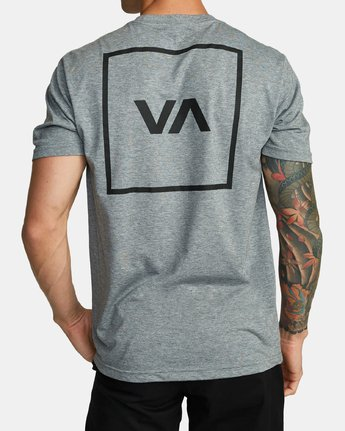 2 RVCA BOX T-SHIRT Grey V4041RBO RVCA