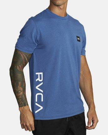 3 RVCA 2X SHORT SLEEVE TEE Blue V4041RRX RVCA