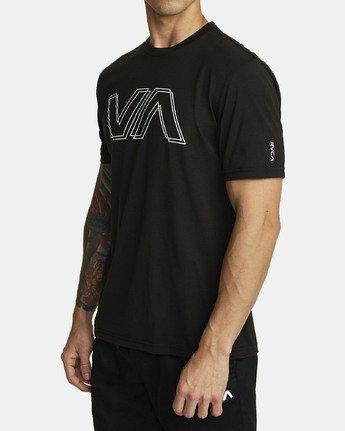 1 VA OFFSET T-SHIRT Black V4041RVO RVCA