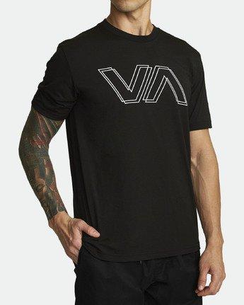 2 VA OFFSET TEE Black V4041RVO RVCA