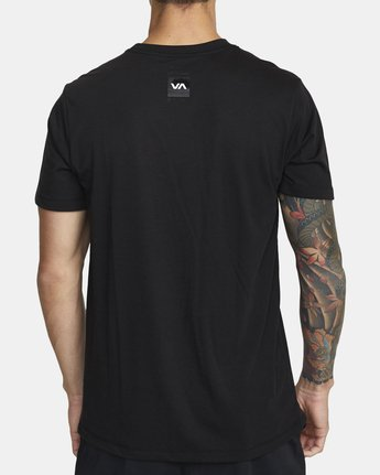 3 DOUBLE DOWN SHORT SLEEVE TEE Black V4043RDO RVCA