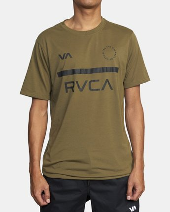 1 MID BAR SHORT SLEEVE TEE Green V4043RMI RVCA
