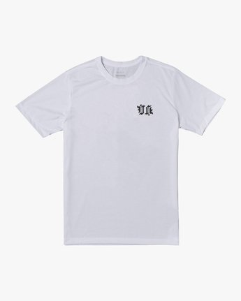 0 TIGER KRAK SHORT SLEEVE TEE White V4043RTI RVCA