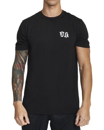 3 TIGER KRAK SHORT SLEEVE TEE Black V4043RTI RVCA