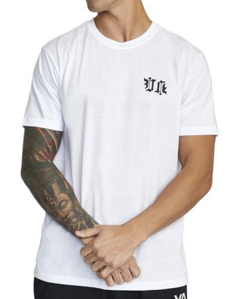 4 TIGER KRAK SHORT SLEEVE TEE White V4043RTI RVCA
