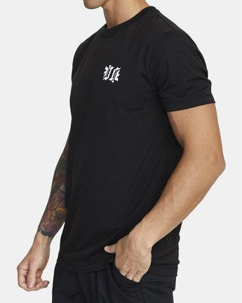 2 TIGER KRAK SHORT SLEEVE TEE Black V4043RTI RVCA