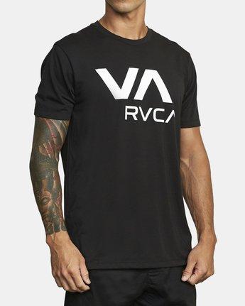 3 VA RVCA SHORT SLEEVE T-SHIRT Black V4043RVR RVCA