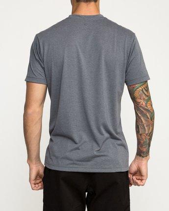 3 Defer Bar Performance T-Shirt Grey V404TRDE RVCA