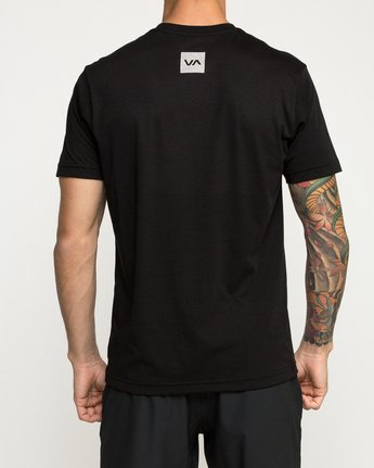 3 RVCA Verted Performance T-Shirt Black V404TRRV RVCA