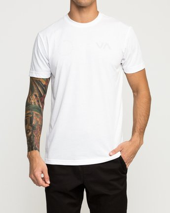 2 Stealth Seal Performance T-Shirt White V404TRST RVCA