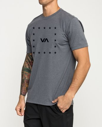 2 VA Corners Performance T-Shirt Grey V404TRVA RVCA