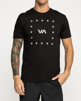 1 VA Corners Performance T-Shirt Black V404TRVA RVCA