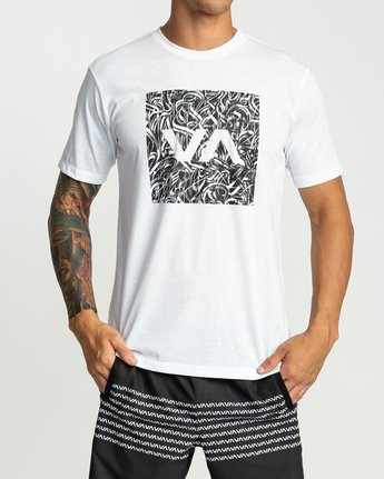2 Defer All The Way Performance T-Shirt White V404URDE RVCA