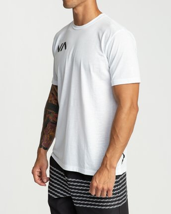 3 Pin Down Performance T-Shirt White V404URPD RVCA