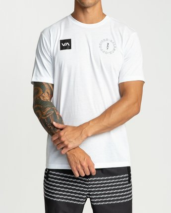 1 Pin Around Performance T-Shirt White V404URPI RVCA