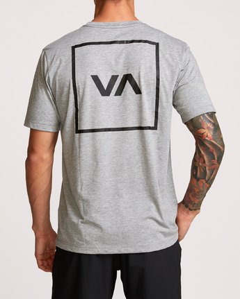 4 RVCA Box Drirelease T-Shirt Grey V404VRBO RVCA