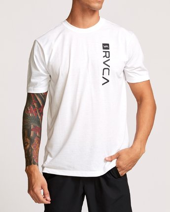 2 RVCA Box Drirelease T-Shirt White V404VRBO RVCA