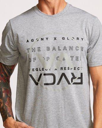 4 Brand Over Balance TEE Grey V404VRBR RVCA