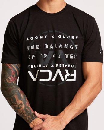 4 Brand Over Balance T-Shirt Black V404VRBR RVCA